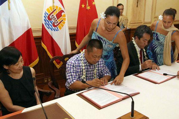 Projet aquacole de Hao : les conventions signées