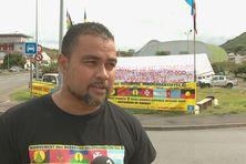 Arnaud Chollet-Leakava, sur une action du MOI, à Nouméa.