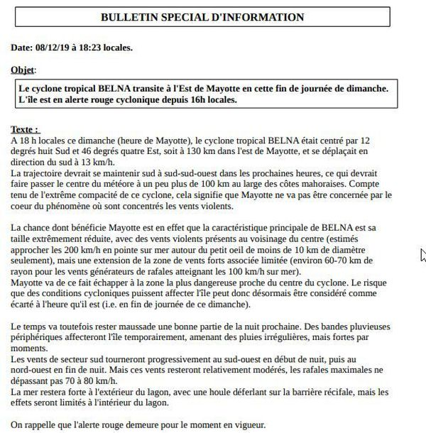 Météo France 18h dimanche
