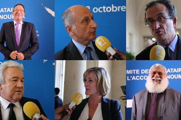 Philippe Gomès, Gaël Yanno, Bernard Deladrière, Harold Martin, Isabelle Lafleur et Paul Néaoutyine