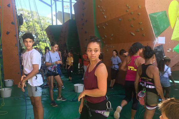 Faites du sport 2021, à Nouméa, Magenta, mur d'escalade