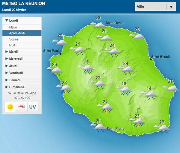Carte météo 20 février 2017