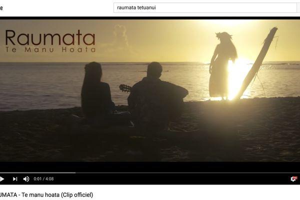 """Le clip """"Te Manu Hoata"""" a atteint le million de vues sur YouTube"""