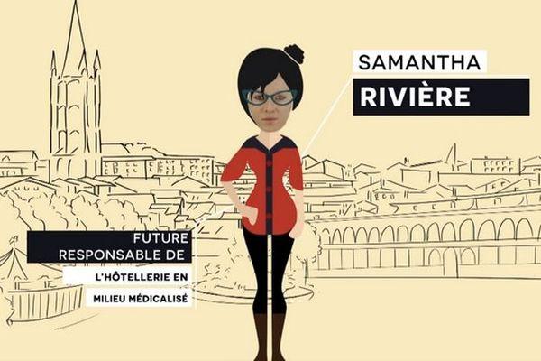 Etudiante Samantha Rivière