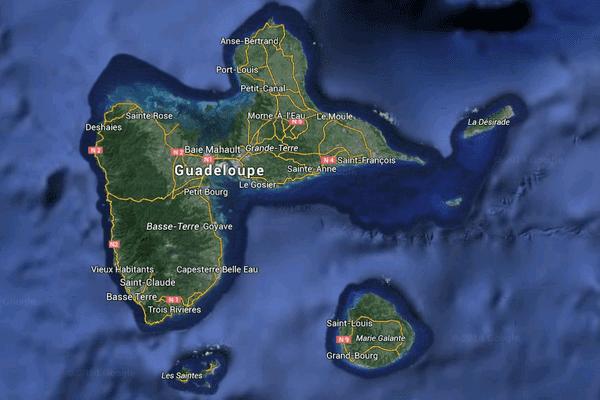 maps guadeloupe archipel