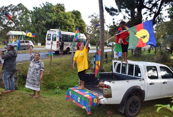 Référendum 2020, drapeau Kanaky / indépendantiste, tribu de Saint-Louis
