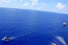 Le remorqueur Maroa tracte la goëlette Maris Stella 4 depuis Rangiroa jusqu'à Papeete. Un exploit.