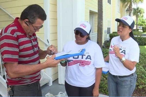 Des bénévoles portoricaines cherchent à mobiliser les électeurs hispaniques à voter Clinton