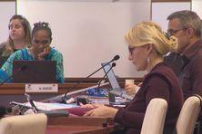 Annie Qaeze et Virginie Ruffenach lors d'une session au Congrès en mai 2020.