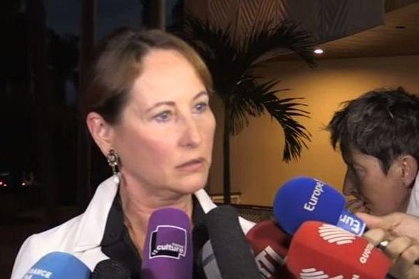 Ségolène Royal à son arrivée à Cuba