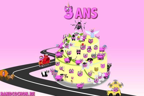 anniversaire 3 Bandcochon