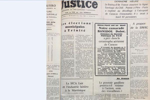 Journal Justice décembre 1969