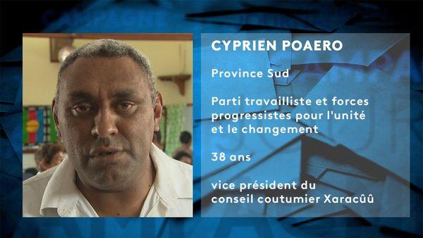 Provinciales 2019: fiche candidat de Cyprien Poaero