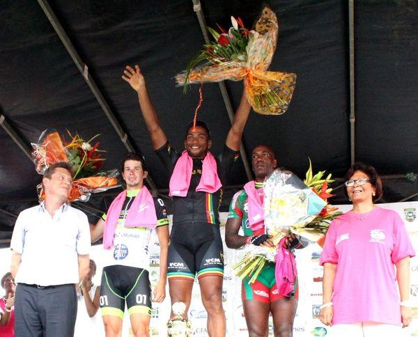 Le podium de la dernière étape