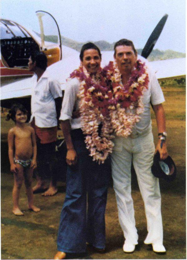 Jacques Brel et sa femme Maddly à Hiva Oa