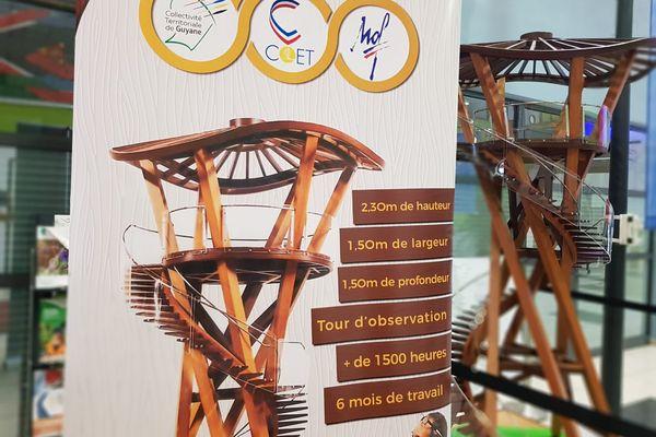 Maquette d'une tour d'observation en bois de Sébastien Girardeau