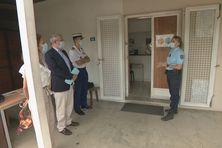Visite de différents officiels ce mercredi matin, à la brigade de Dumbéa.