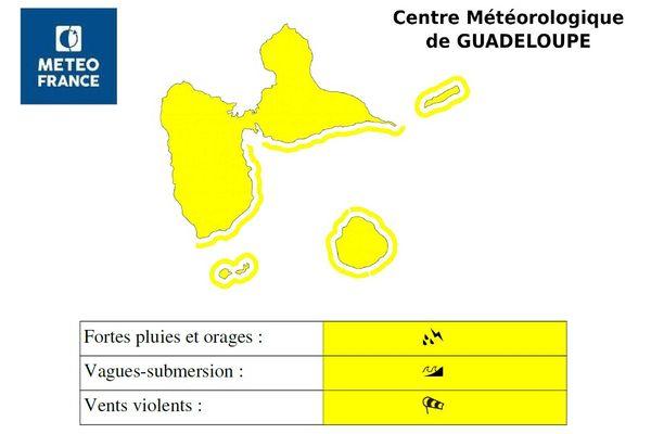 "Vigilance jaune ""vents, submersion, pluies, orages"""