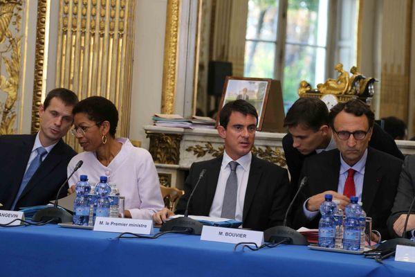 Manuel Valls et George Pau-Langevin à l'ouverture du 12ème Comité des signataires.