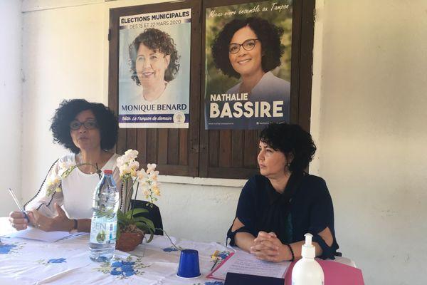 Fusion des listes de Monique Bénard et Nathalie Bassire au Tampon pour le deuxième tour