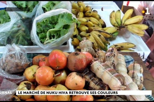 Le marché de Nuku Hiva reprend des couleurs