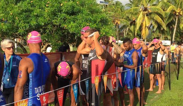 Samoa 2019, départ de l'aquathlon hommes