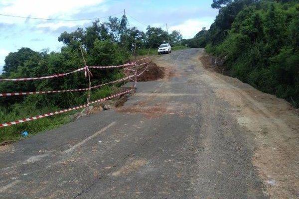 Etat des routes après les pluies, col d'Amos, 20 janvier 2021