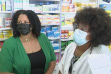 Salariées de pharmacie en Martinique.