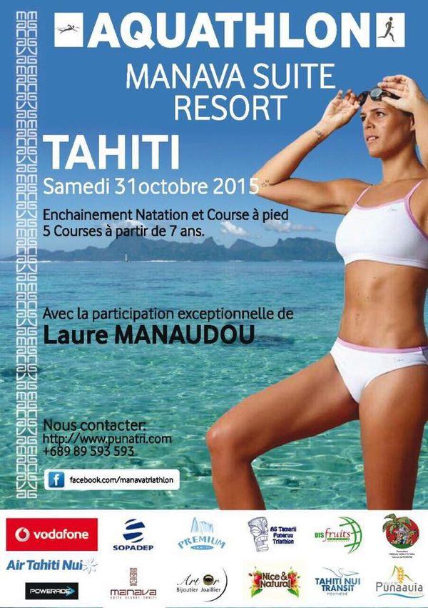 Laure Manaudou à Tahiti