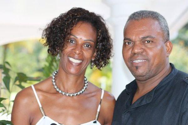 Dominique Mondésir et son épouse