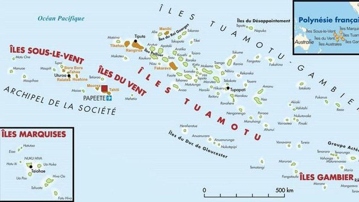 Polynésie carte