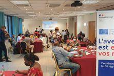 La conférence sur l'avenir de l'Europe avec le recueil des avis d'un échantillon de la population de Martinique.