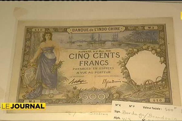 Exposition sur l'histoire de la monnaie