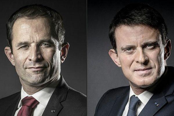 Benoit Hamon et Manuel Valls