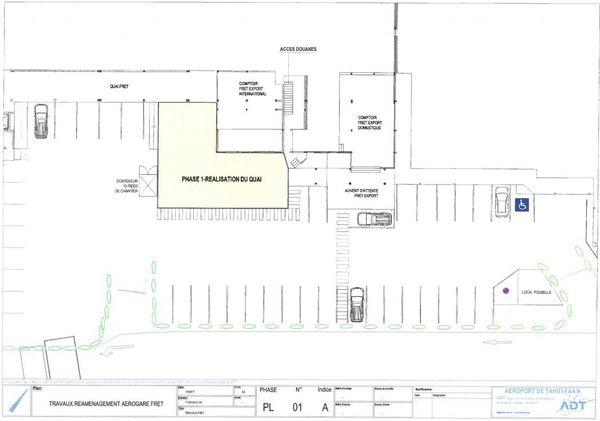 Plan d'aménagement de la 1ère phase de travaux