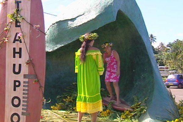 Le PK0 à Teahupoo s'embellit : une nouvelle stèle est installée