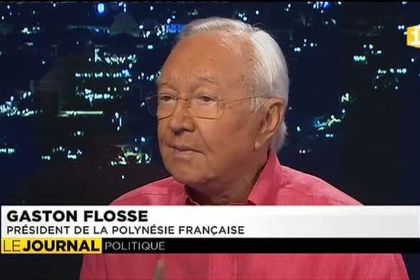 L'invité du journal : le président du pays Gaston Flosse