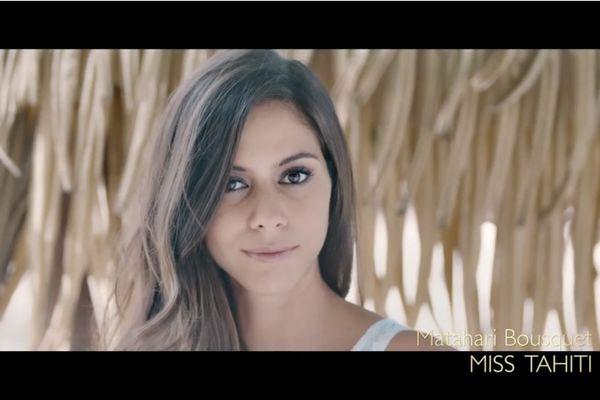 Découvrez le portrait de Miss Tahiti à Miss France