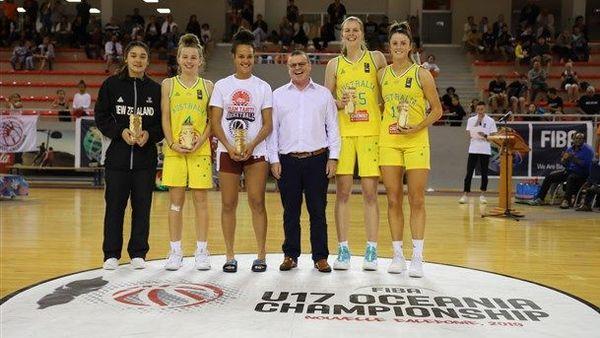 Oceania de basket U 17, meilleures joueuses