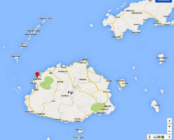 Fidji Google map