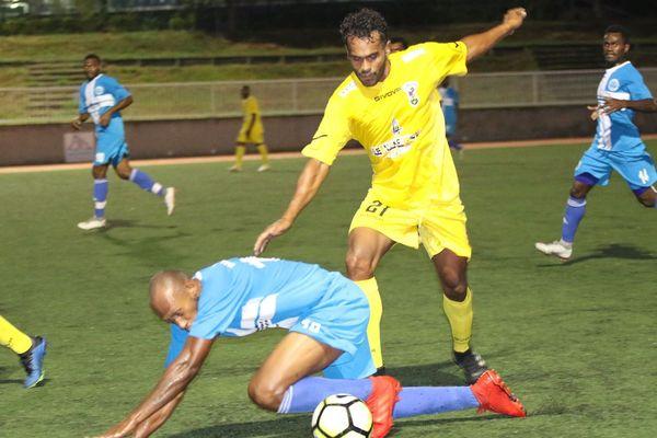 Nouvelle recrue de l'ASM, Nathanaël Hmaen a marqué hier contre Malampa.