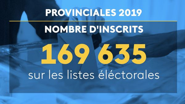 Provinciales 2019: infographie du nombre d'inscrits