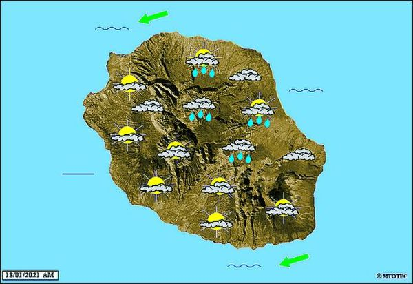 Carte météo 13 janvier 2021