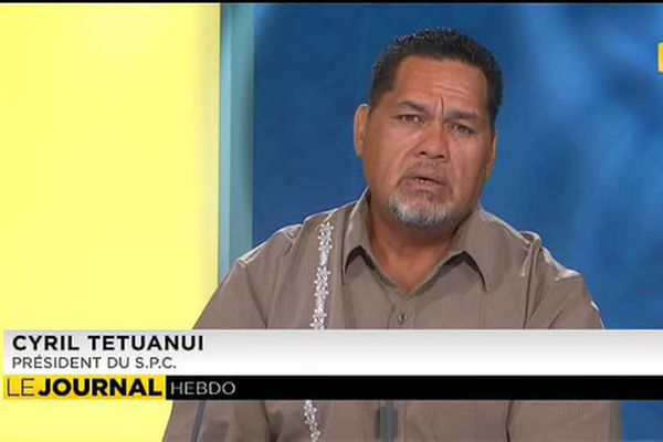 Cyril Tetuanui, président du syndicat pour la Promotion des Communes
