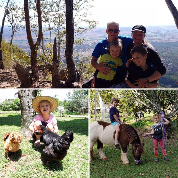 La famille s'est installée récemment Tamborine Montain (entre Brisbane et Gold Coast)