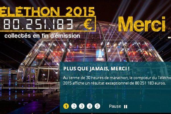 Bilan du Téléthon 2015
