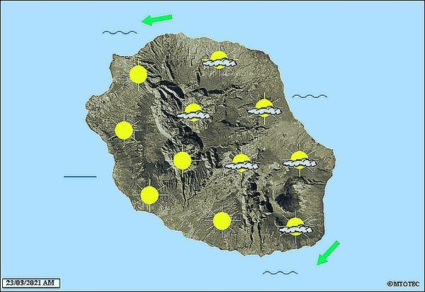 Carte météo 23 mars 2021