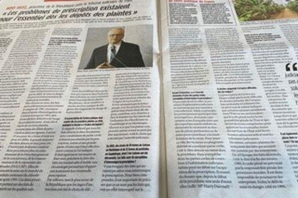 France Antilles et le Procureur de la République de Paris Rémy Heitz