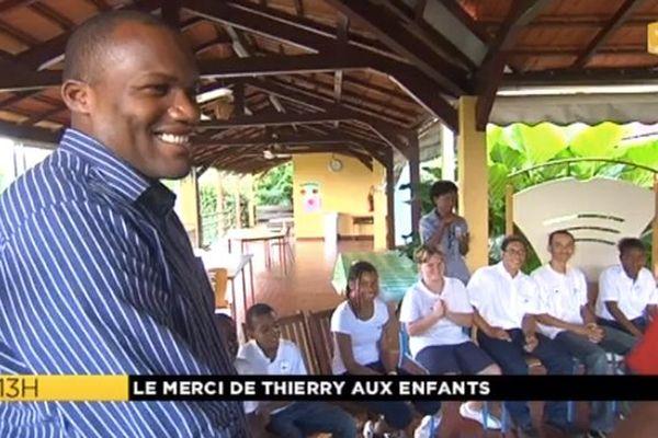 Thierry Dol remercie les enfants