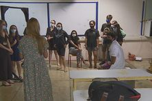 Classe de la spécialité théâtre au lycée La Mennais.